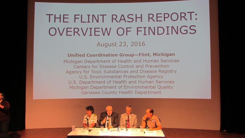 A panel of experts outline the findings in a new report on skin rashes in Flint