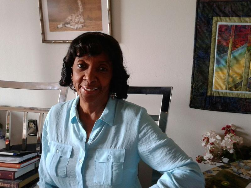 Sarah McChristian, a former singer and social worker, at her Towne Centre Place apt.