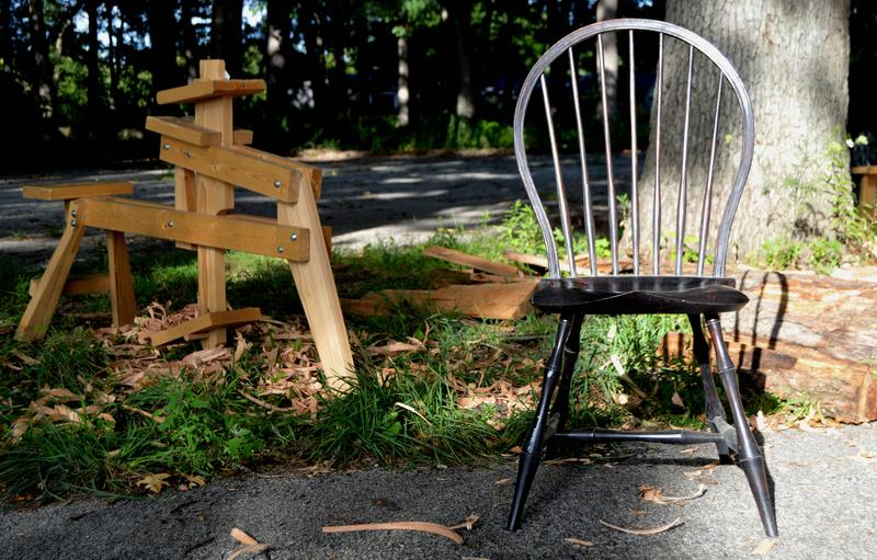 A chair made by Luke Barnett, Adrian, Michigan.