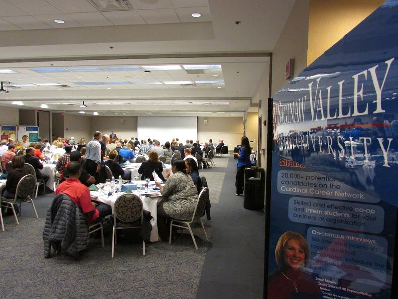 More than 100 entrepreneurs and others took part in a special conference at SVSU Friday.