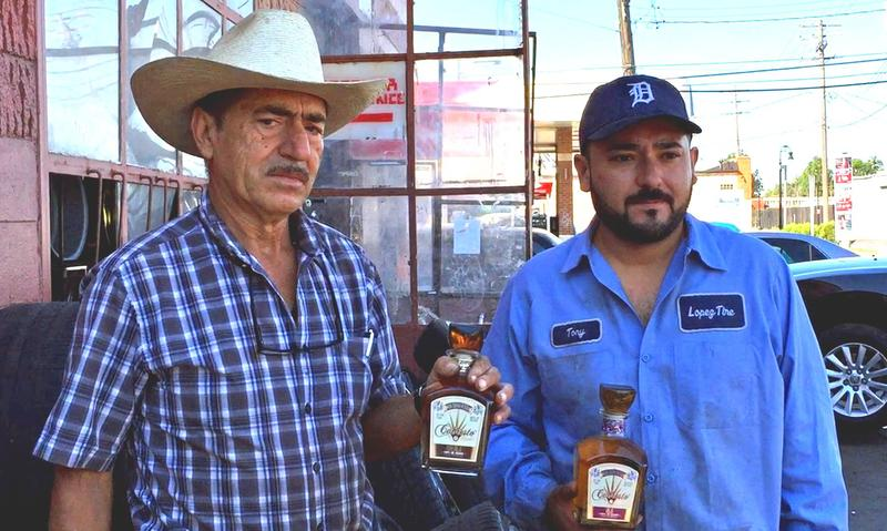 Silverio and Antonio Lopez. The Lopez family operates a tire shop in Detroit and grow agave for their own brand of tequila in Mexico, Cabresto.