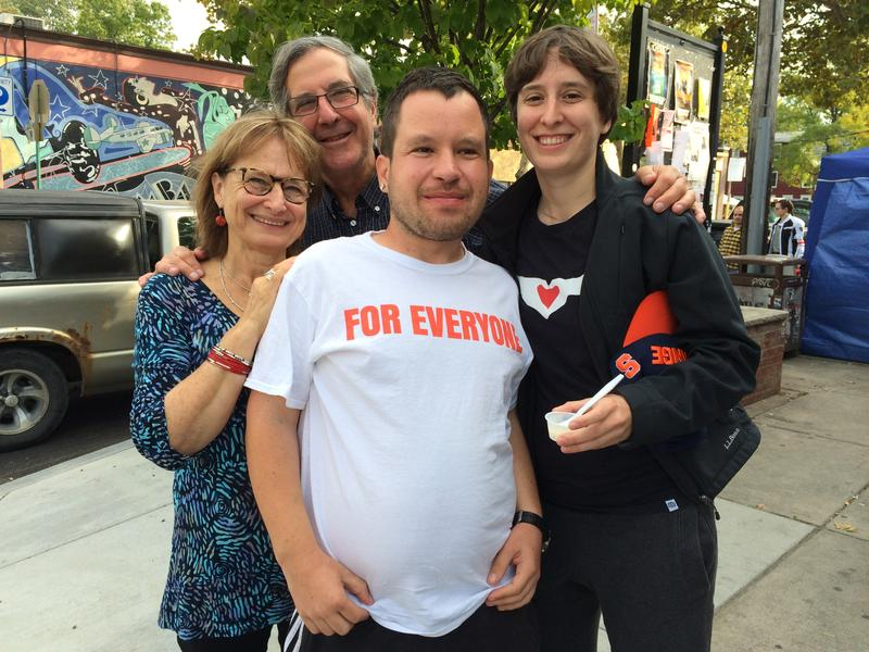 Janice Fialka, left, with her husband Rich, son Micah and daughter Emma in Syracuse.