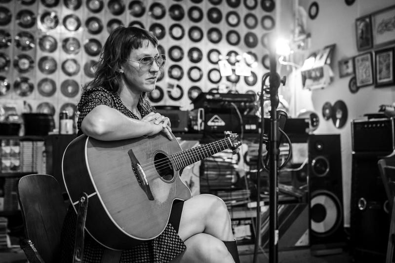 Audra Kubat recording for The River Street Anthology at Lo & Behold! Records & Books, Hamtramck, October 11, 2015