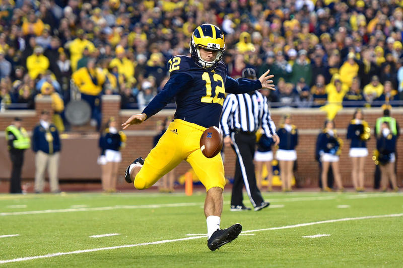 Michigan punter Blake O'Neill.
