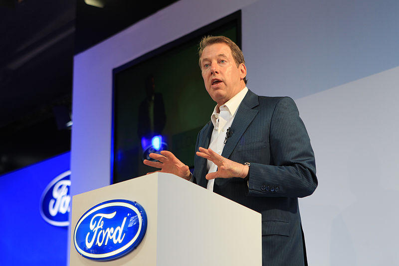 Bill Ford Jr., the executive chairman of Ford Motor Company, at the 2012 GSMA Mobile World Congress in Barcelona, Spain.