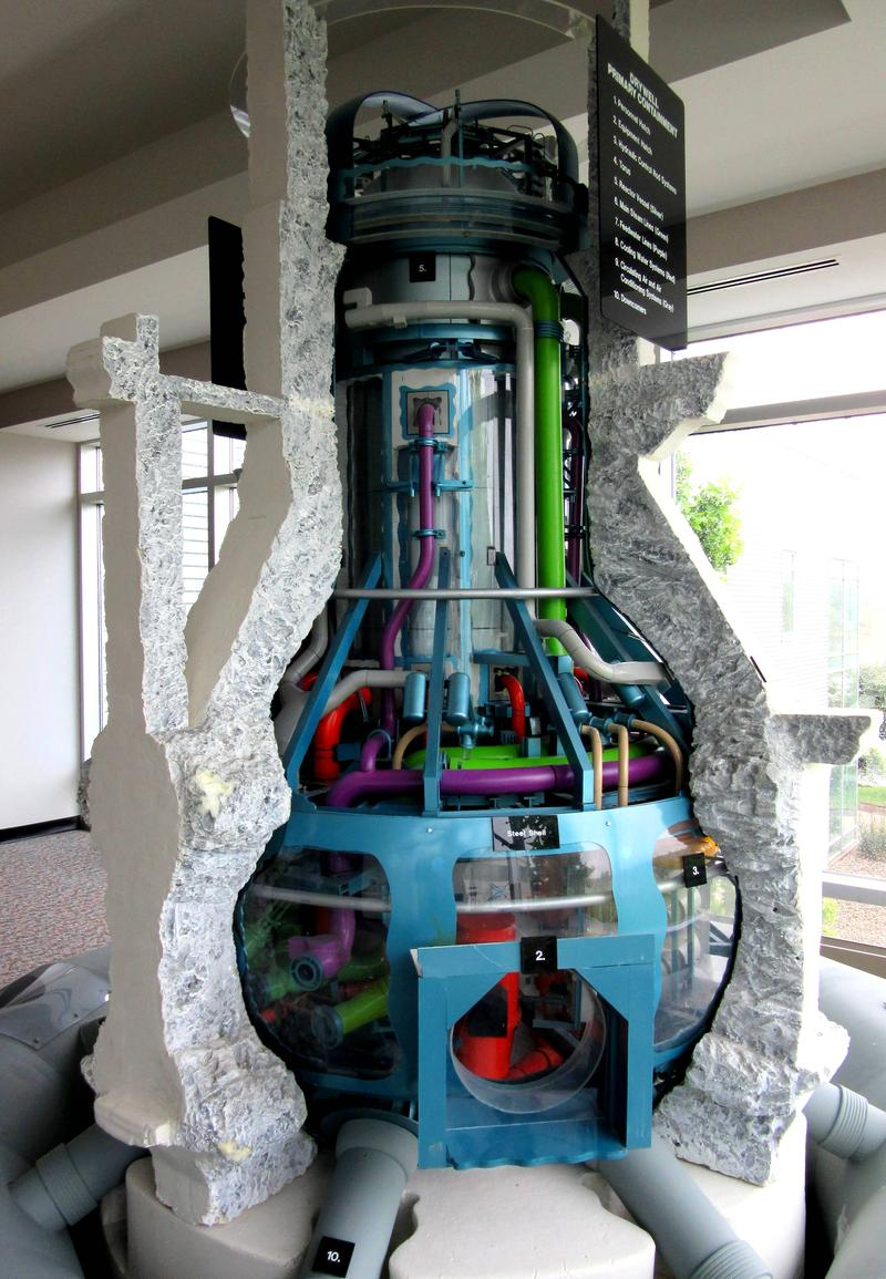 Cutaway model of reactor.