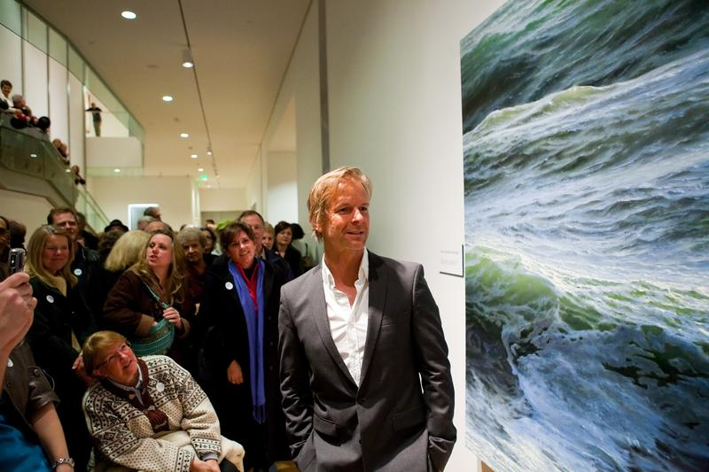 "Ran Ortner's painting ""Open Water No. 24"" won the inaugural ArtPrize in 2009."