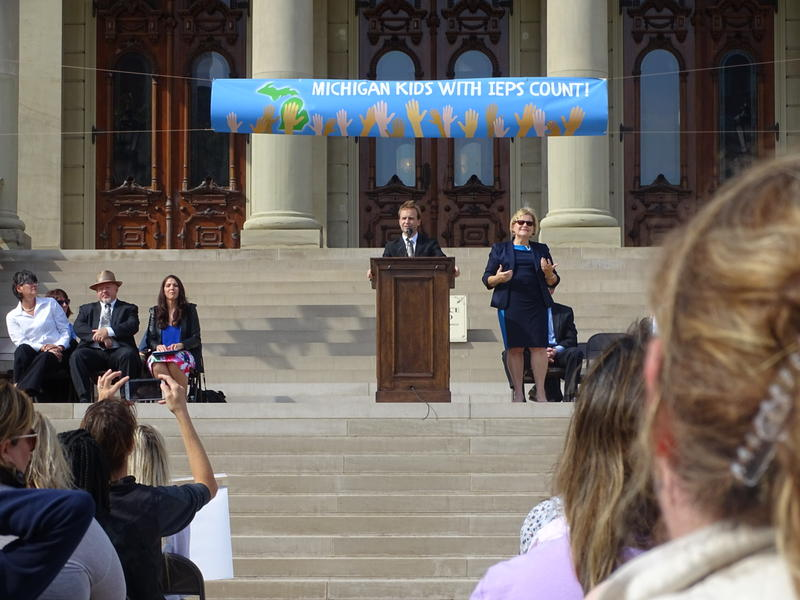 lieutenant governor brian calley at podium