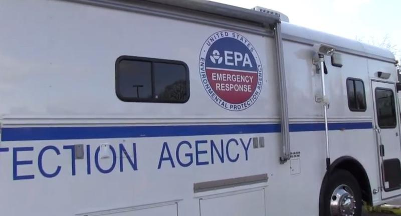 EPA Emergency response vehicle in Flint.
