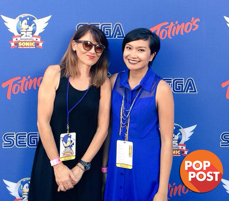 Kathleen Hiraga and Sapphire Sandalo at the Sega 25th anniversary Party at ComicCon San Diego