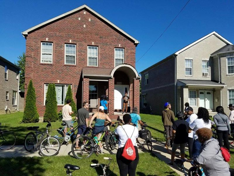 """Pedal to Porch is a neighborhood bike ride that includes stops along the route where residents of the neighborhood use their front porch as a stage to tell their story,"" Cornetta Lane told us."