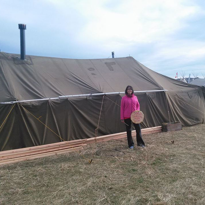 Ferland told us he's planning on setting up a few more tents for protestors at Standing Rock.