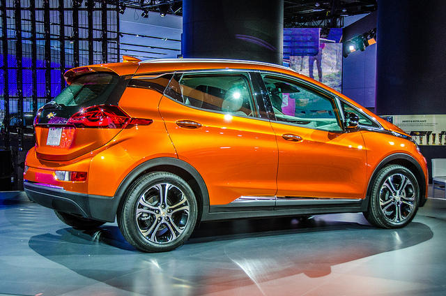 Cars like this Chevy Bolt could soon be driving themselves around the streets of Detroit.