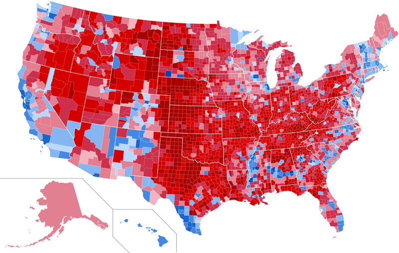 In The Election Echoes Of Another Tight Race In Michigan - 2016 us county election results map