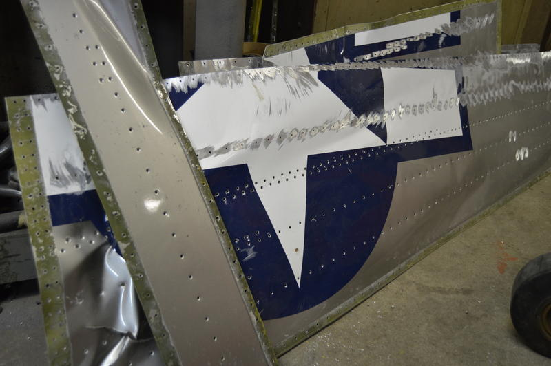 Part of the AT6 advanced trainer plane wing skin.