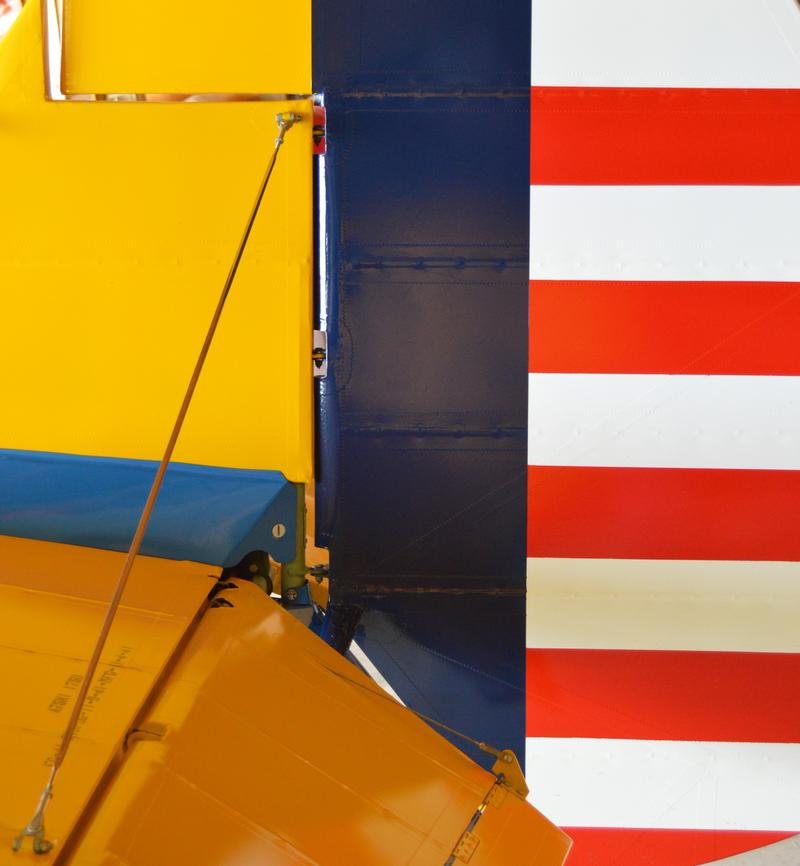 Detail of the bi-plane's tail.