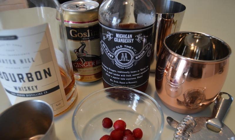 Ingredients for McClary's Mule, a suggested cocktail for Thanksgiving.