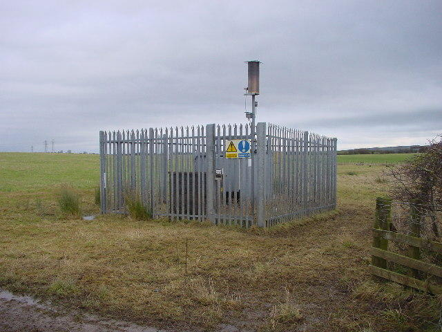 Part of a system that collects and burns landfill gas