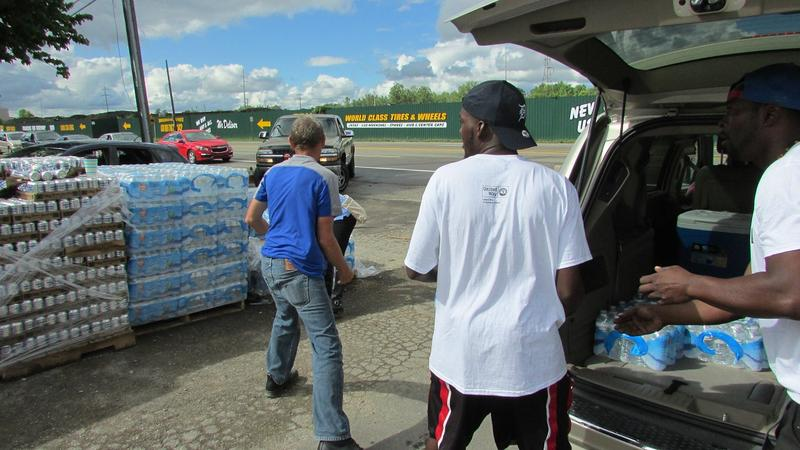 For many Flint residents, trips to a nearby water distribution center is a regular part of life.