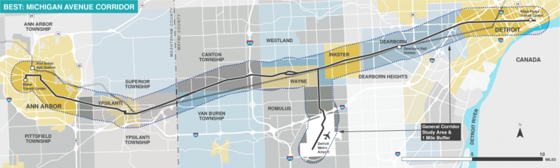 The RTA identified the Michigan Avenue Corridor as one of the areas that would have benefited from a regional transit system, had the millage passed.