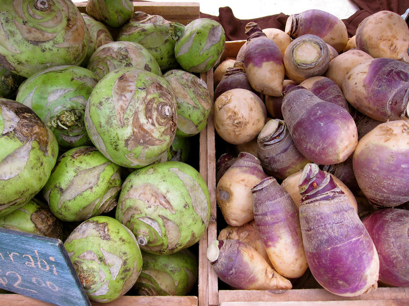 Kohlrabi and rutabaga