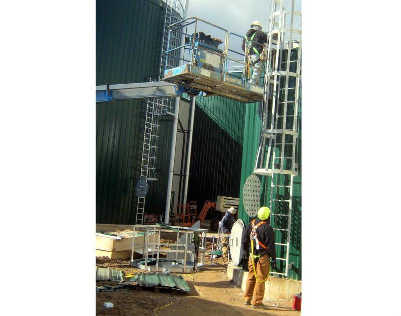 A biodigester under construction in Fremont, MI in 2013.