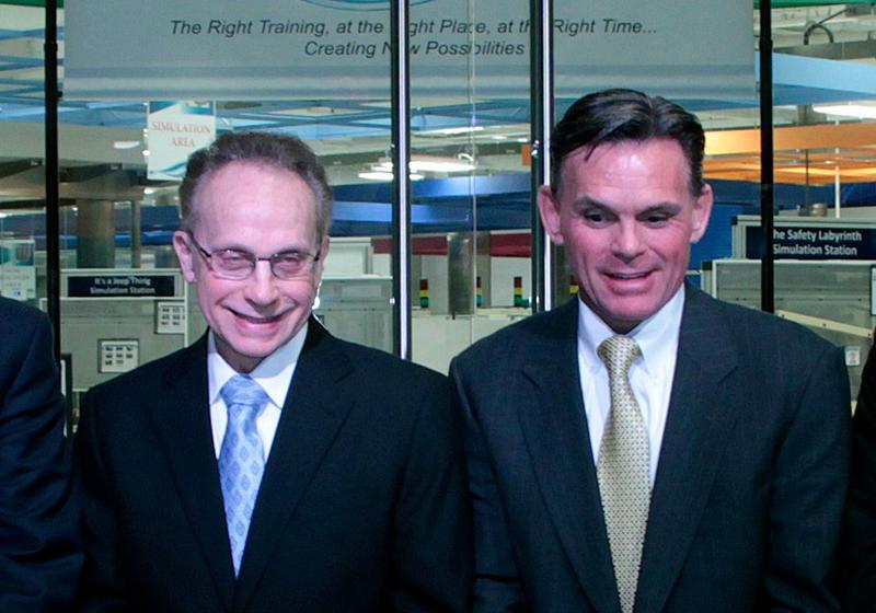 Warren Mayor Jim Fouts and Macomb County Executive Mark Hackel at a 2012 event.