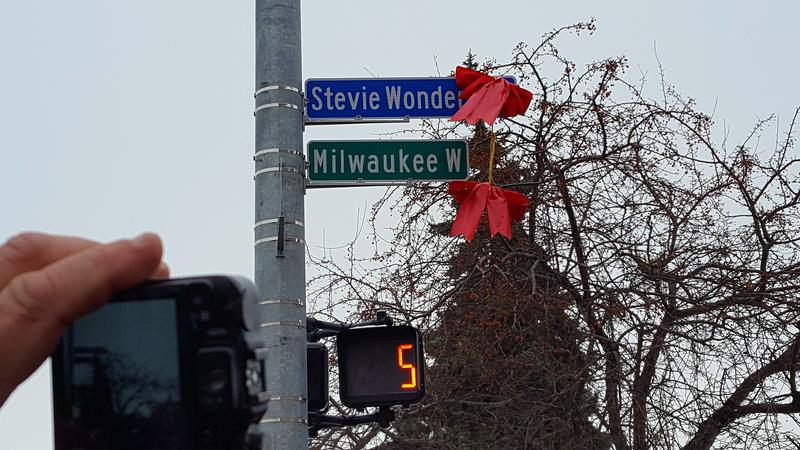 Stevie Wonder Avenue stretch of Milwaukee Street in Detroit.