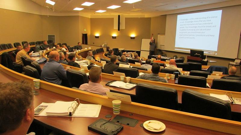 Incoming sheriffs attend a training session in East Lansing.