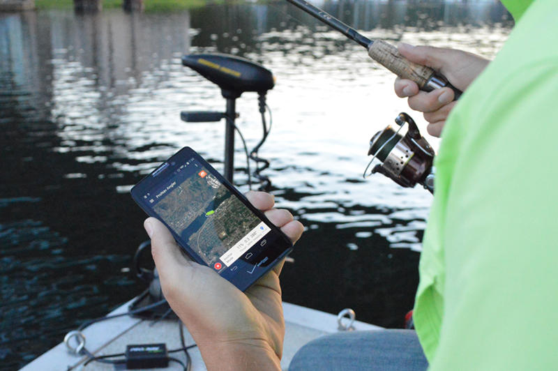 The ProNav Angler mobile app allows you to set a route and let your trolling motor do the driving so you can focus on fishing.