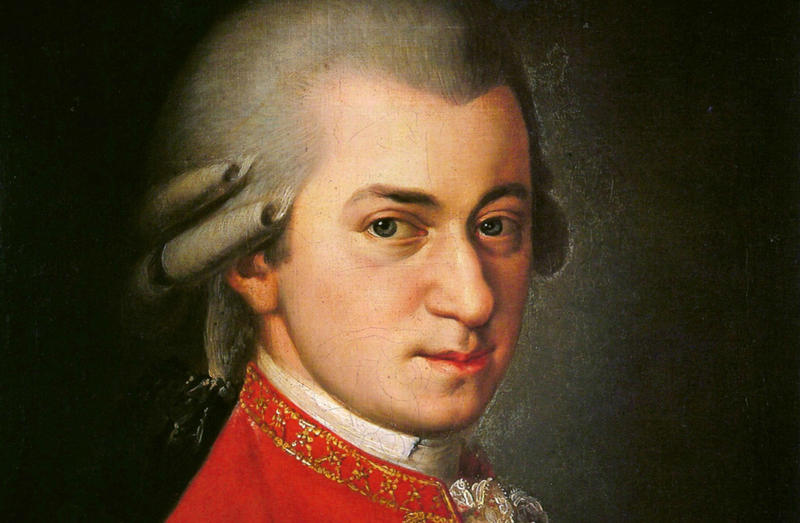 This posthumous portrait of Wolfgang Amadeus Mozart was painted by Barbara Krafft in 1819.