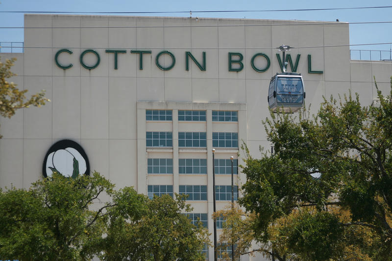 They used to play the Cotton Bowl game in the Cotton Bowl Stadium in Dallas. Not anymore. It's now played in the AT&T Stadium.