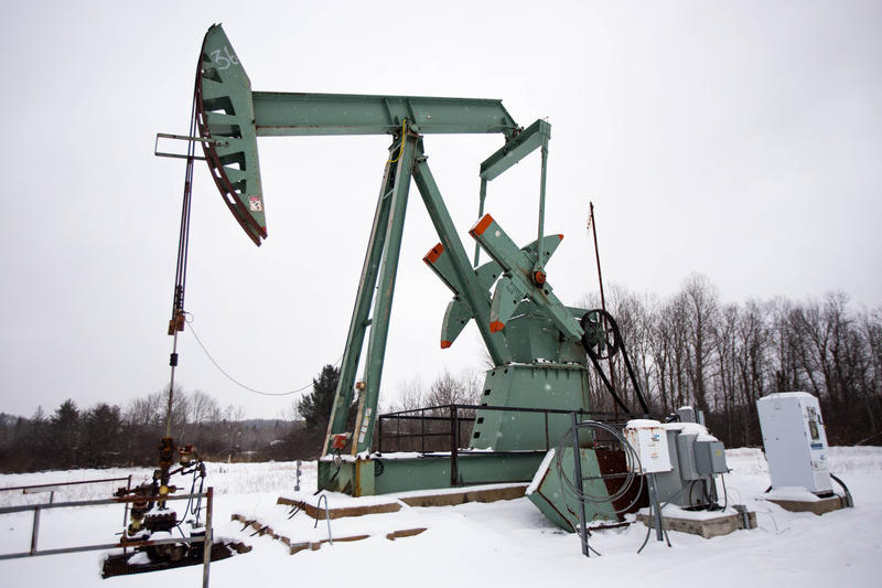An oil pump sits dormant in Grand Traverse County.