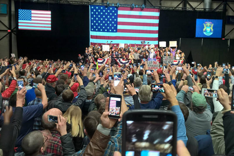 Thousand in Grand Rapids came out to see President-elect Donald Trump Friday night