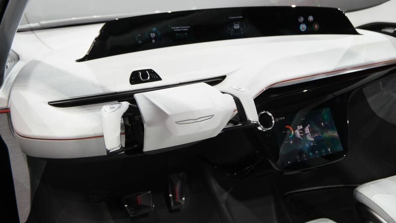 The interior of FCA's Portal concept vehicle.