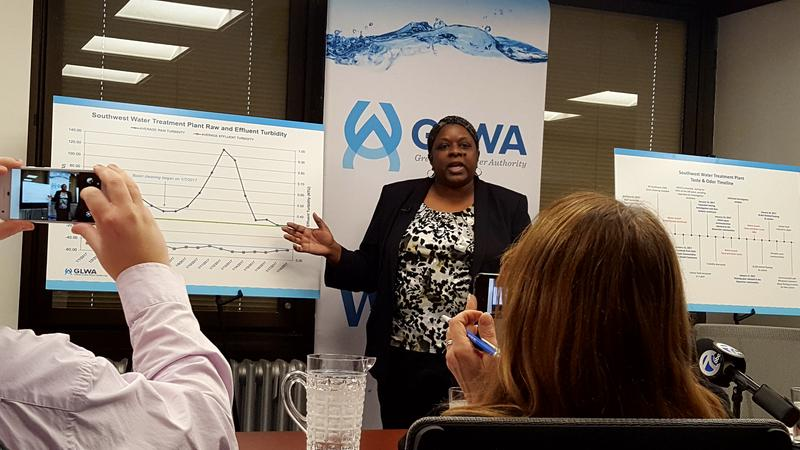 Great Lakes Water Authority COO Cheryl Porter explains what cause water to have bad smell and taste.