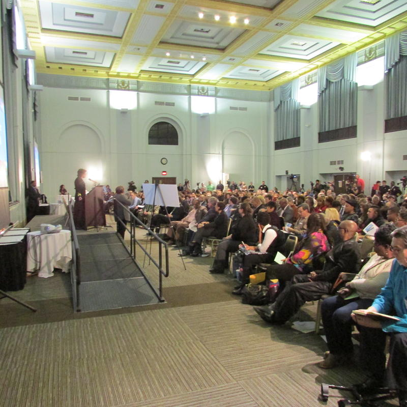 "Flint residents packed a town hall meeting yesterday to hear a ""progress report"" on their drinking water."