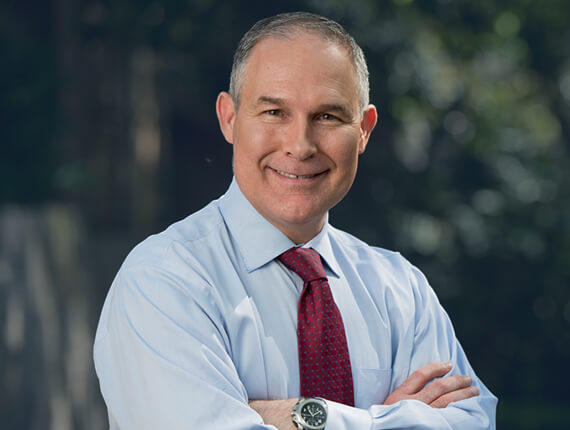 Scott Pruitt, head of the EPA