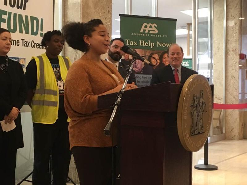 "Detroit health department employee Mariah Allen says the EITC will be a ""great relief"" for her family."