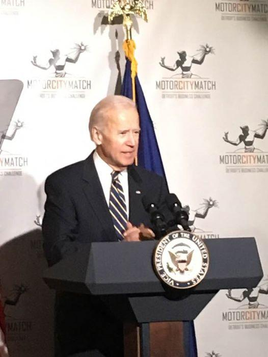 Vice President Joe Biden in Detroit.
