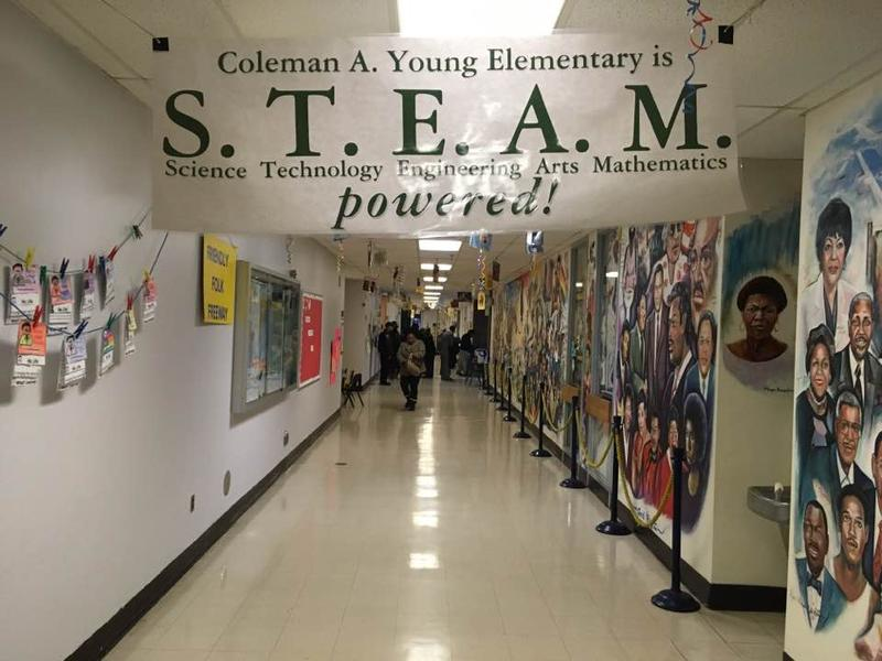 Detroit school leaders point to Coleman A. Young Elementary School as a successful turnarond effort led from within the district.