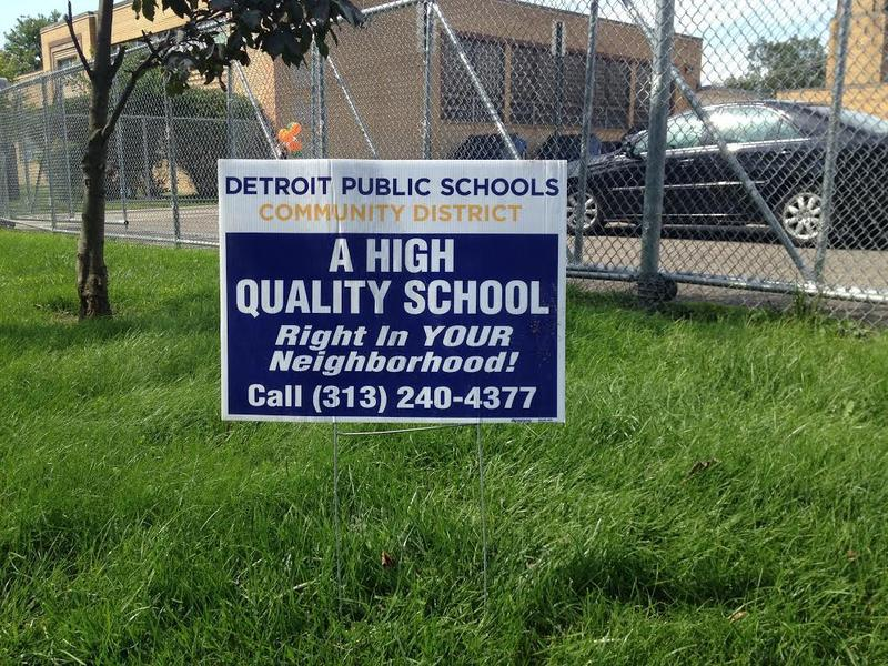 Detroit Public School Distric sign