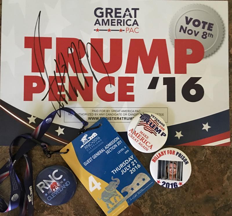 White's collection of Trump memorabilia