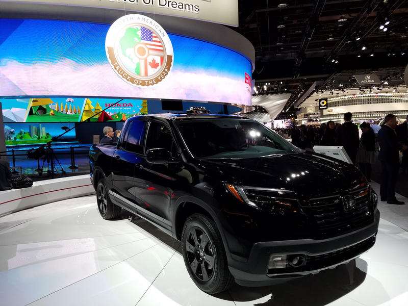 The Honda Ridgeline won the 2017 North American Truck of the Year.