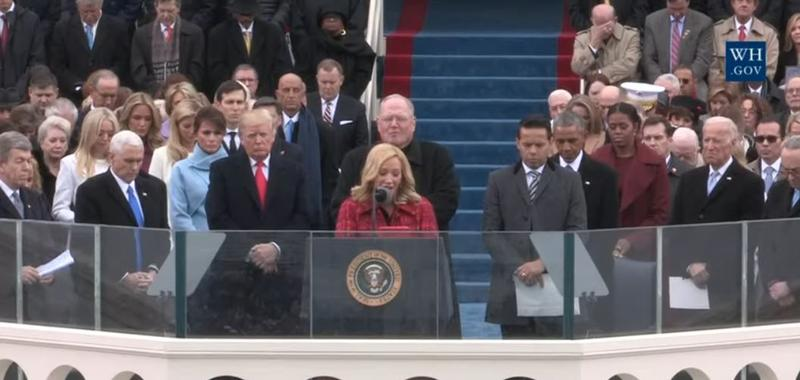 A prayer is recited during the 2017 Inauguration ceremonies.