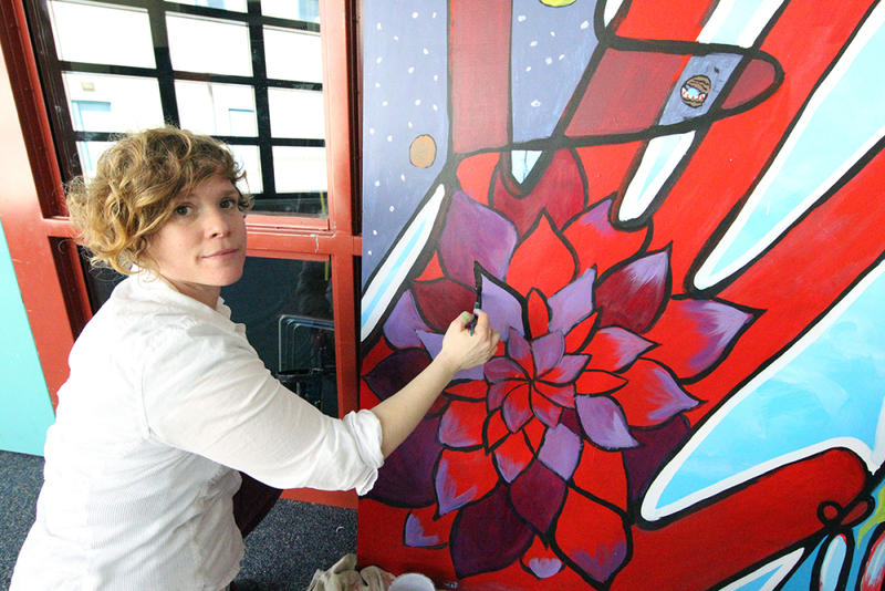 Mary Thiefels, mural workshop facilitator