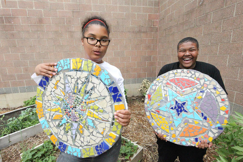 The mosaic workshop at the Washtenaw County Youth Center