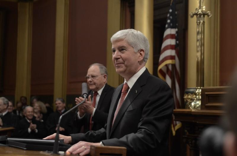 Snyder delivers his 2017 State of the State address.