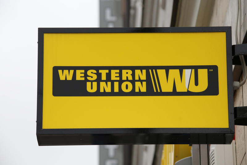 Western Union sign.