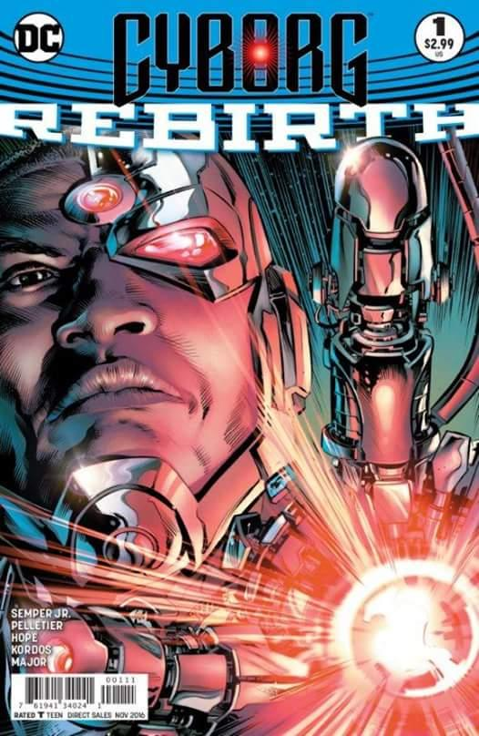 Cyborg Rebirth, Issue #1. Cover art by Will Conrad, colors Ivan Nunes